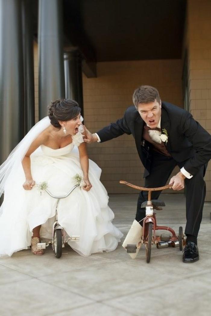 Lustige Hochzeitsbilder Bildergalerie Fahrrad Wettbewerb