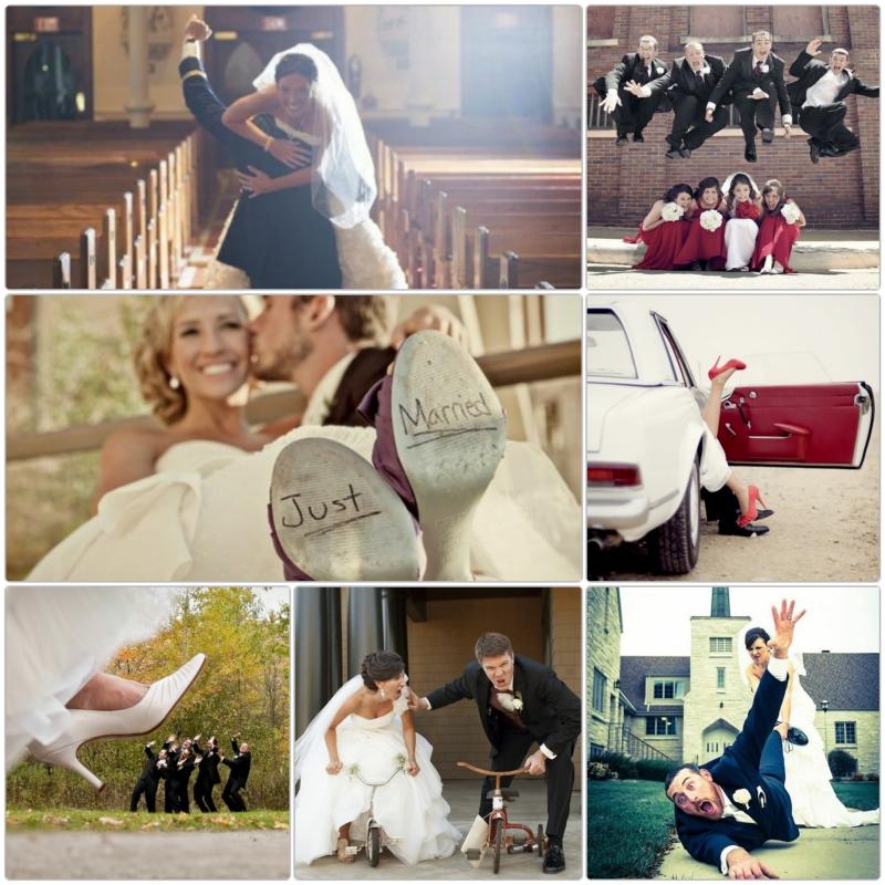 Lustige Hochzeitsbilder Bildergalerie Spaß haben heiraten