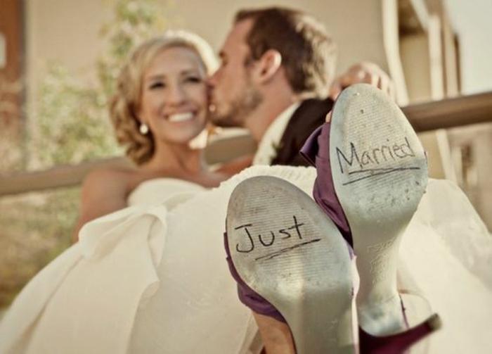 Lustige Hochzeitsbilder Bildergalerie frisch verheiratet