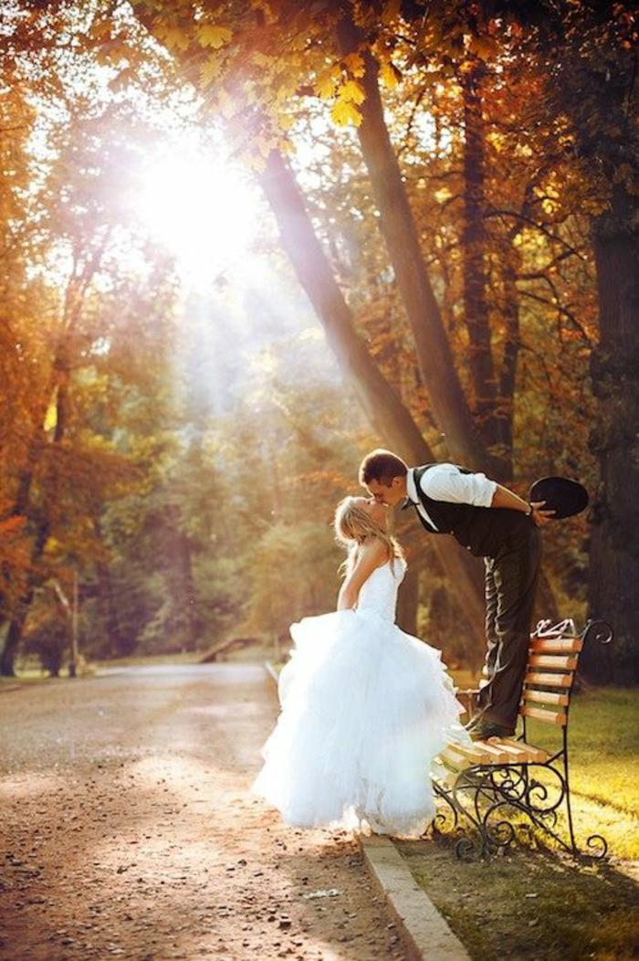 Lustige Hochzeitsbilder Bildergalerie im Park