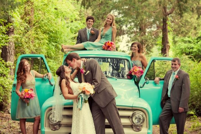 Lustige Hochzeitsbilder Bildergalerie im Wald