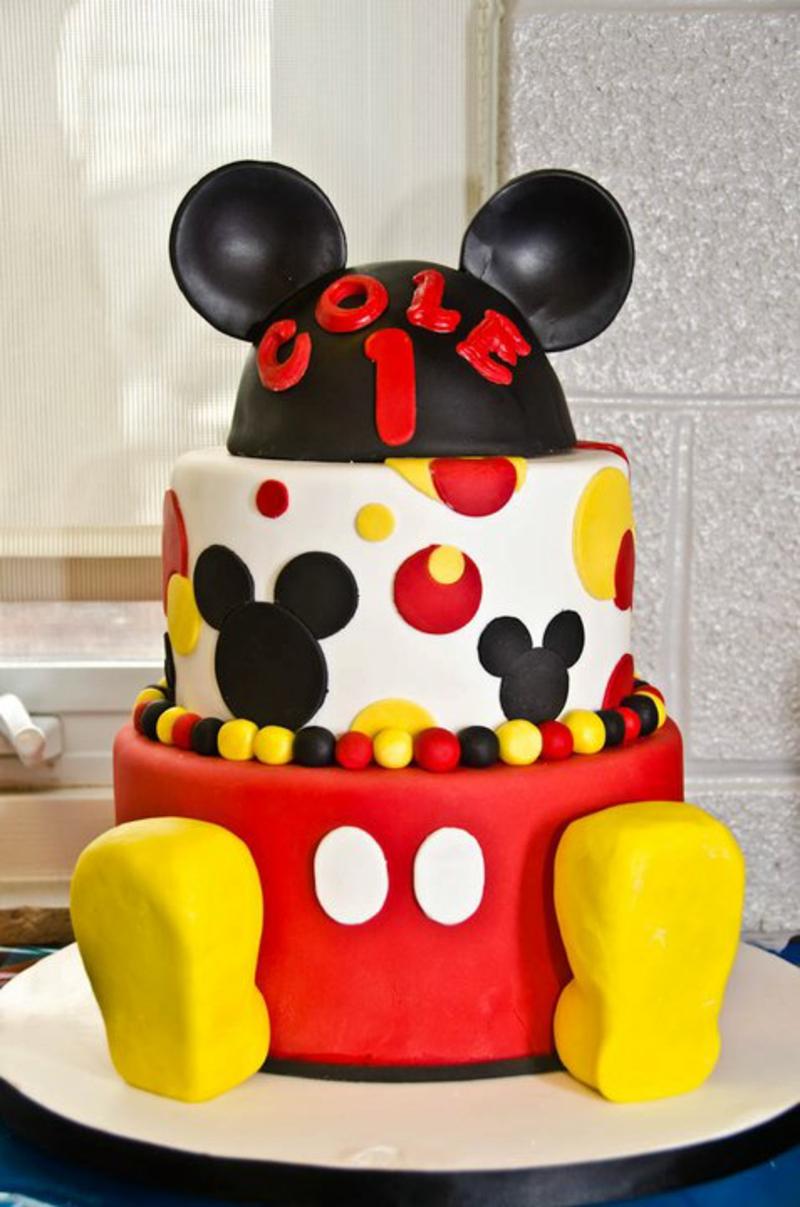 Mickey Mouse Fondant Kindertorte Geburtstagstorten Bilder Tortendeko