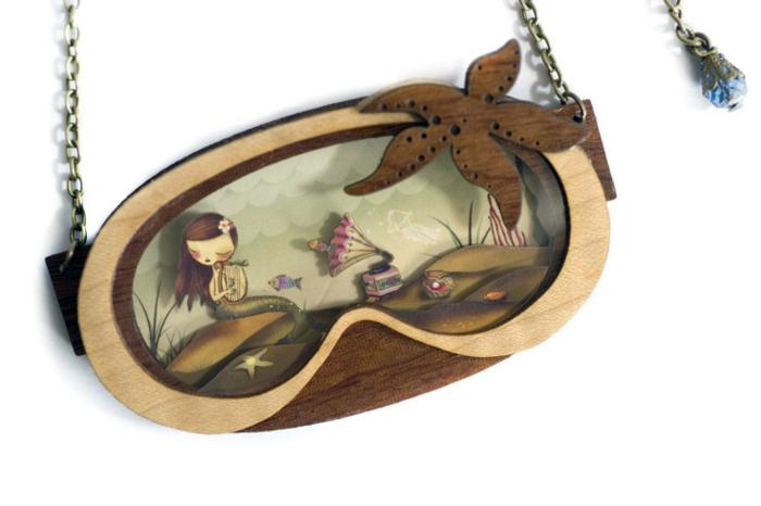 Modeschmuck Ketten maerchenmotive laliblue ariel die kleine meerejungfrau