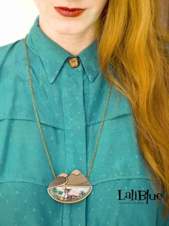Modeschmuck Ketten maerchenmotive laliblue bluse kette