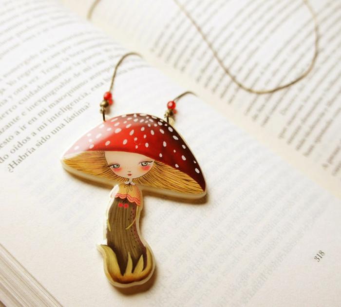 Modeschmuck Ketten maerchenmotive laliblue schwan halskette kettenanhänger pilz