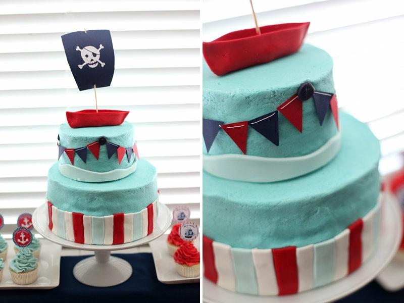 Piraten Kindertorte Geburtstagstorten Bilder Tortendeko