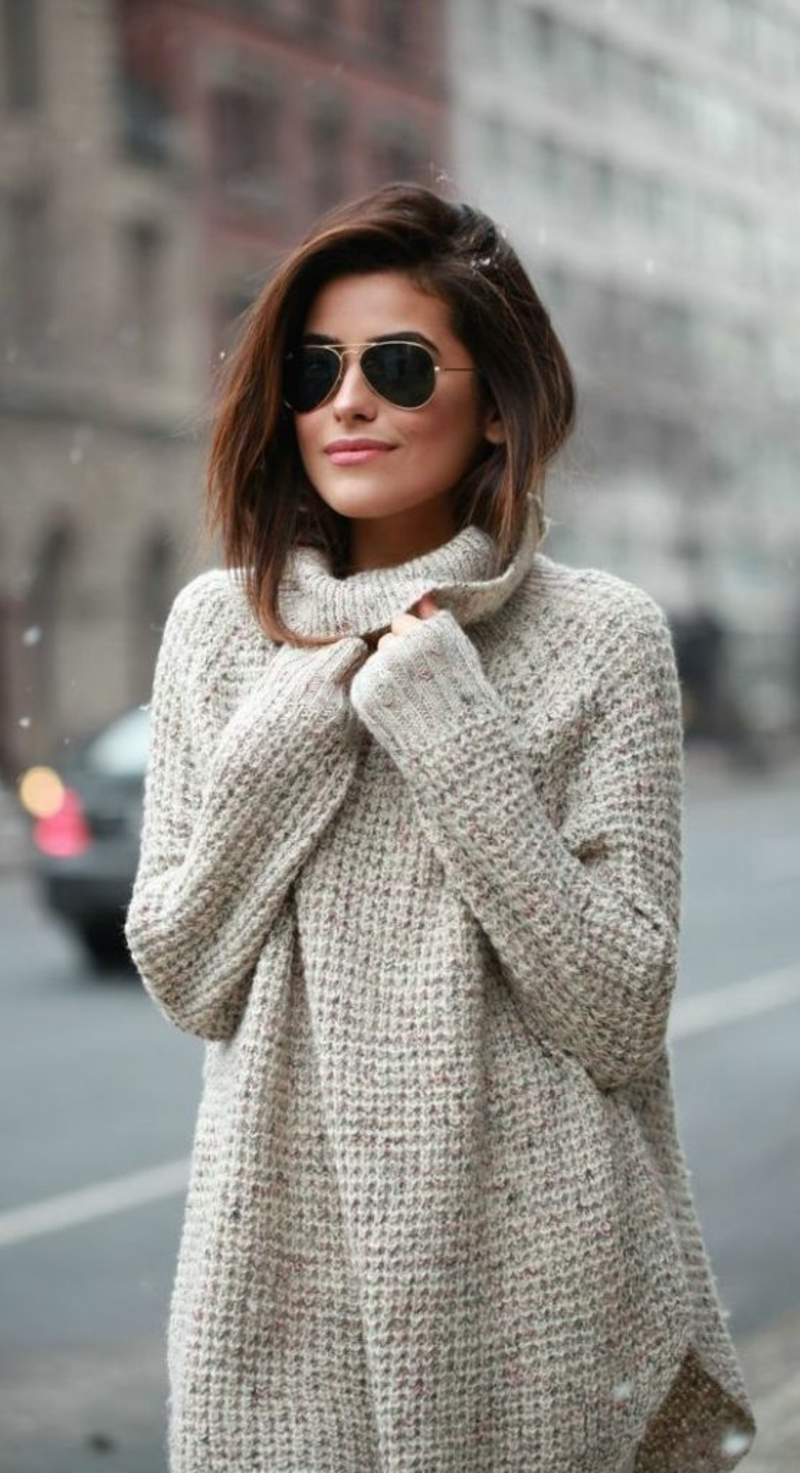 klassischer Stil von 2019 Online gehen Discounter So kann man einen schicken Longpullover tragen - 60 Outfits