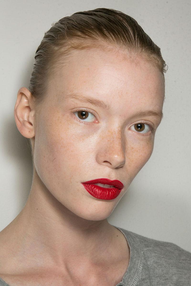 Schminktipps rote Lippen Make up Trends jason wu Styling Tipps
