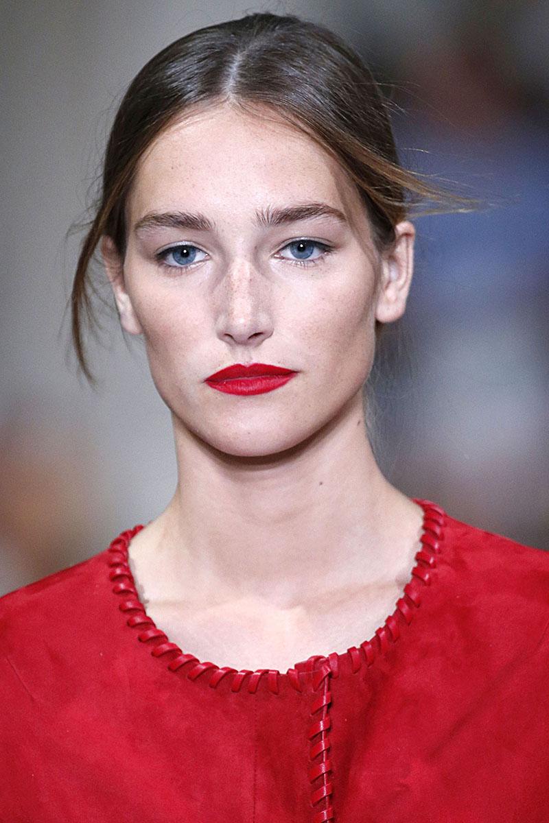 Schminktipps rote Lippen Make up Trends oscar de la renta