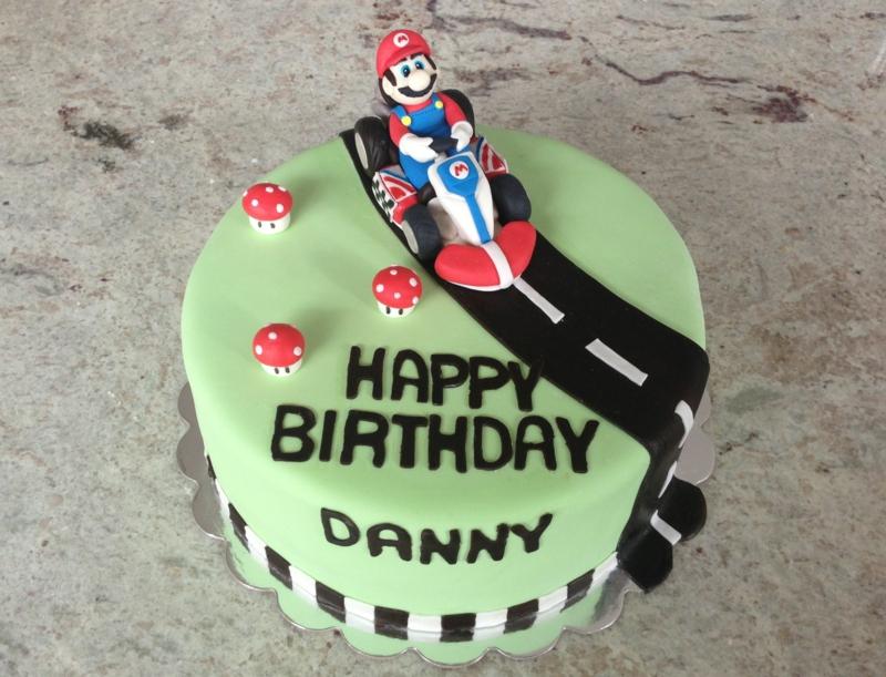Super Mario Kindertorte Geburtstagstorten Bilder Tortendekoration