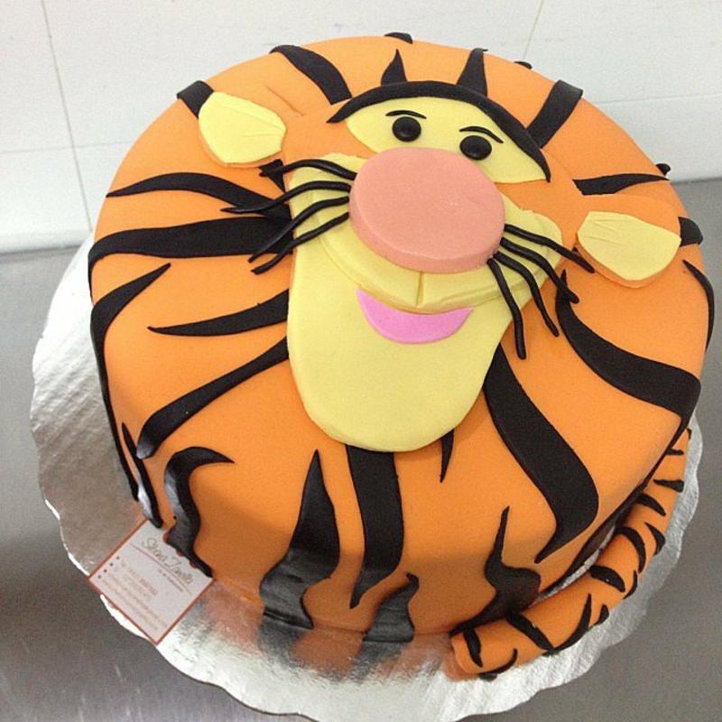 Tiger Kindertorte Geburtstagstorten Bilder Tortendekoration