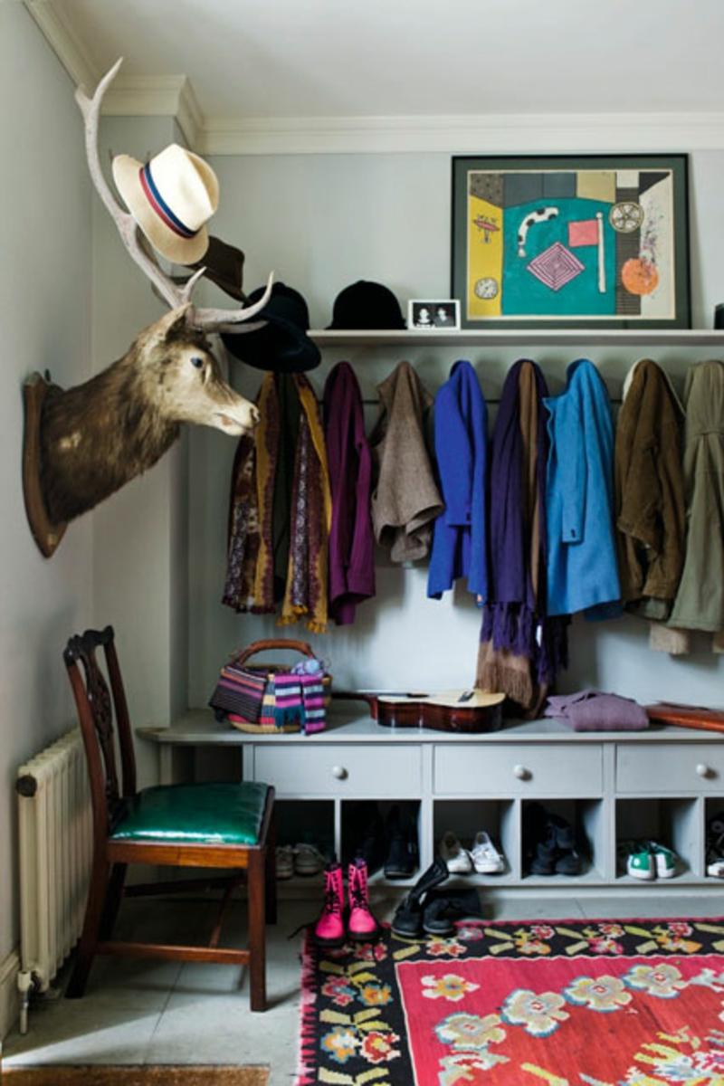 Wandgestaltung Ideen Flur Flurmöbel Garderobe