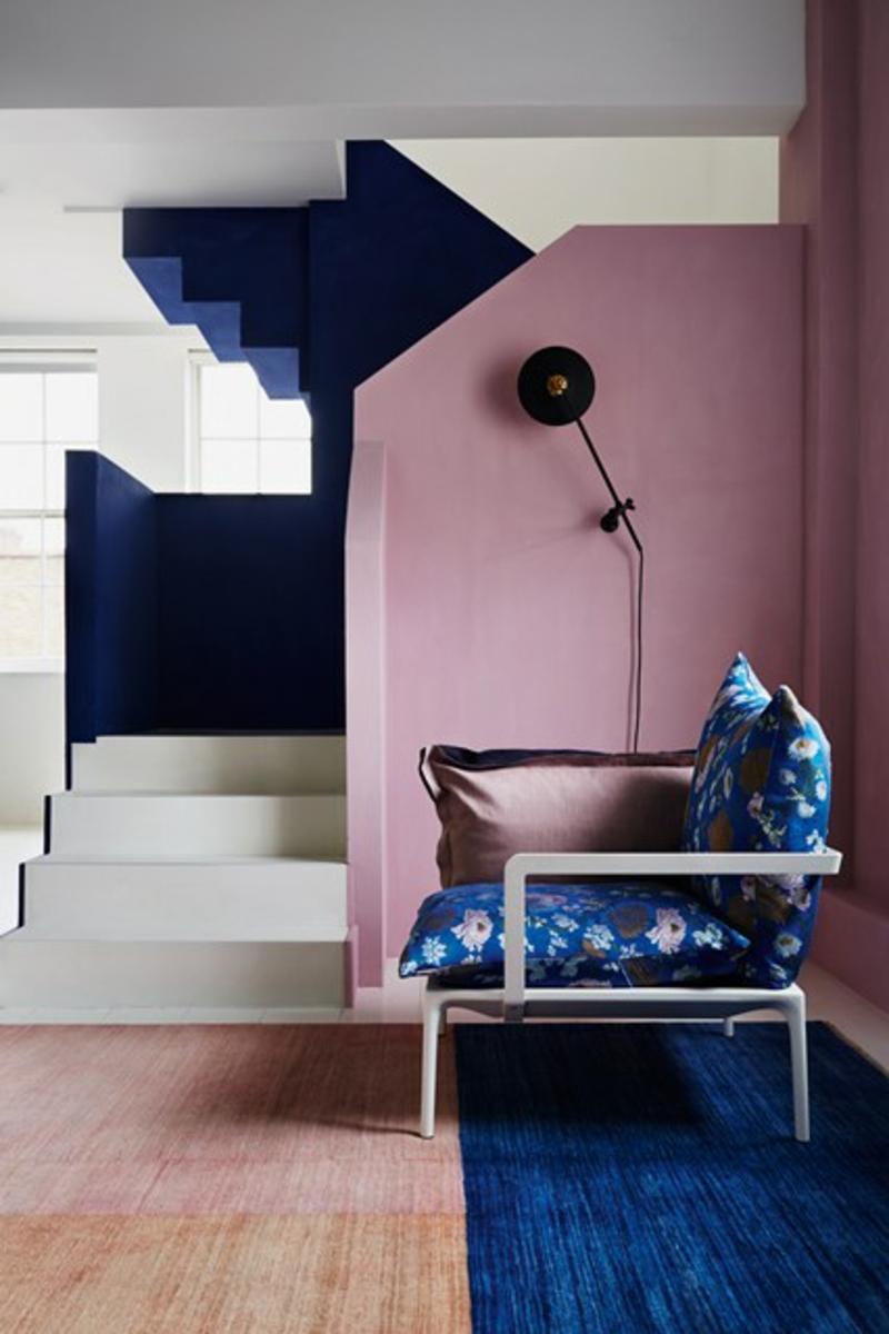 Wohnzimmerz Wandfarbe Altrosa With Wandgestaltung Flur Kreative