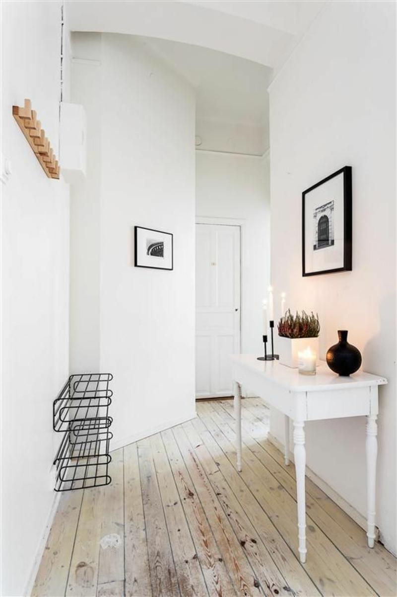 Wandgestaltung flur 60 kreative deko ideen f r den flur - Decoratie hal huis ...