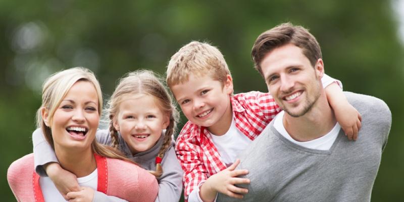 Wie können Kinder abnehmen Familien Aktivitäten im Park