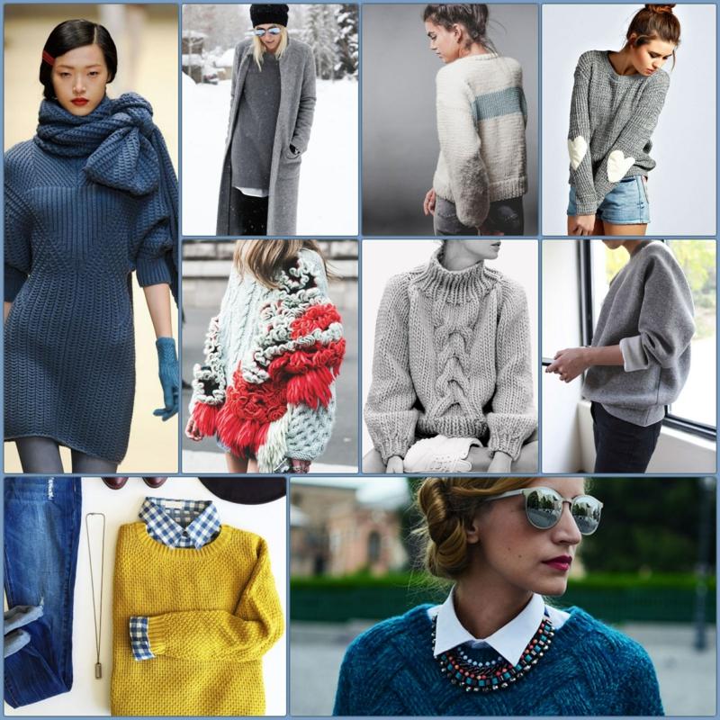 Wintermode Longpullover Damen Trends Straßenmode Bilder
