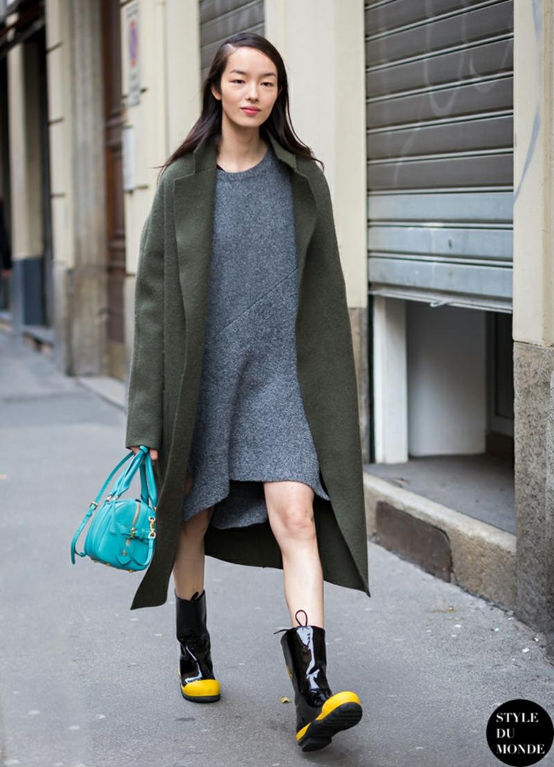 Wintermode Sweatshirt Damen oversize Mantel