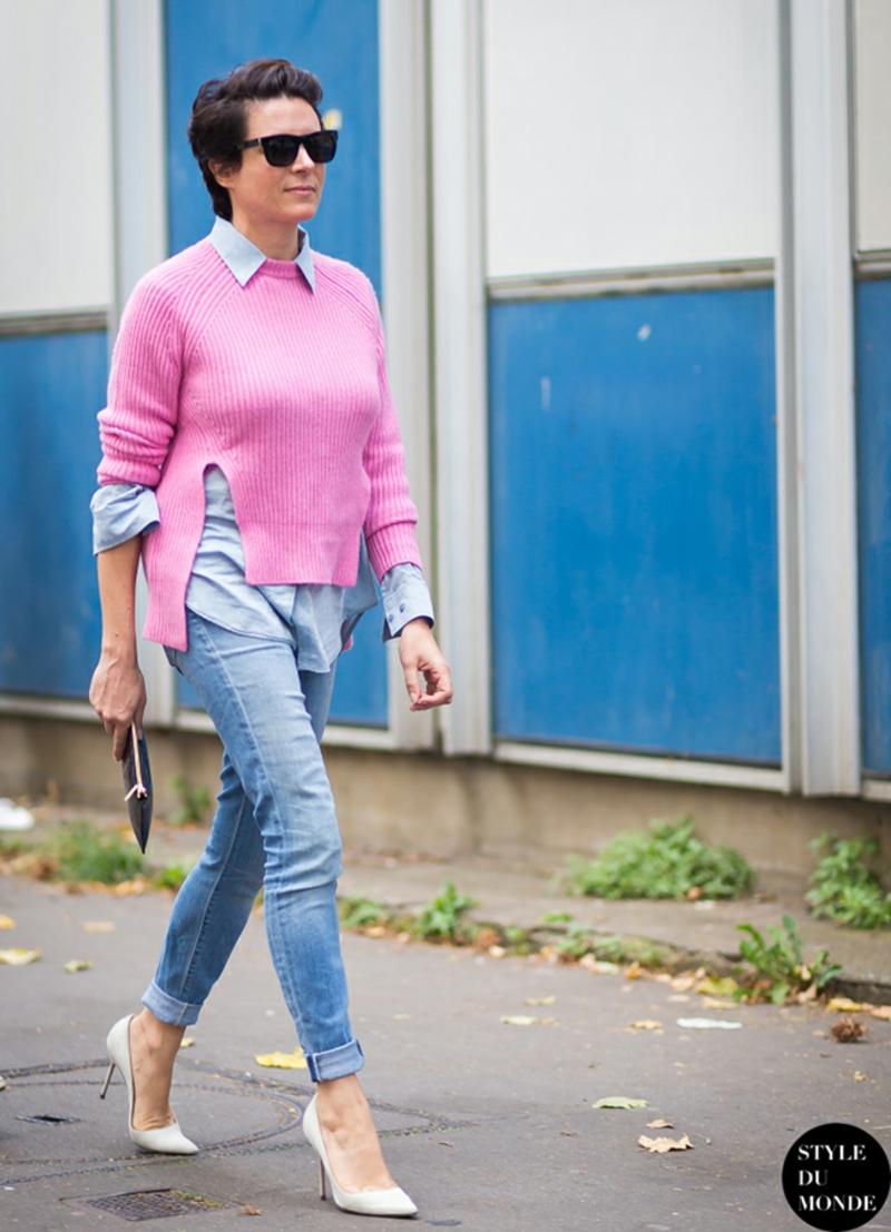 Wintermode Sweatshirt Damen pink Hemd