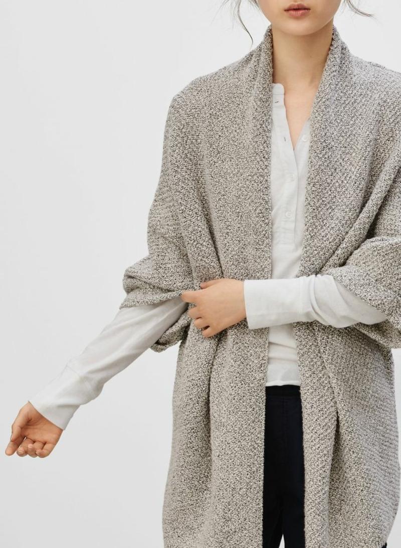 Wintermode oversize Cardigan Damen grau
