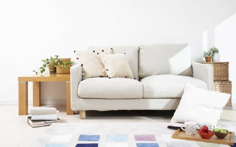 Wohnideen und Trends 2016 Wohnzimmer Sofa Weiß