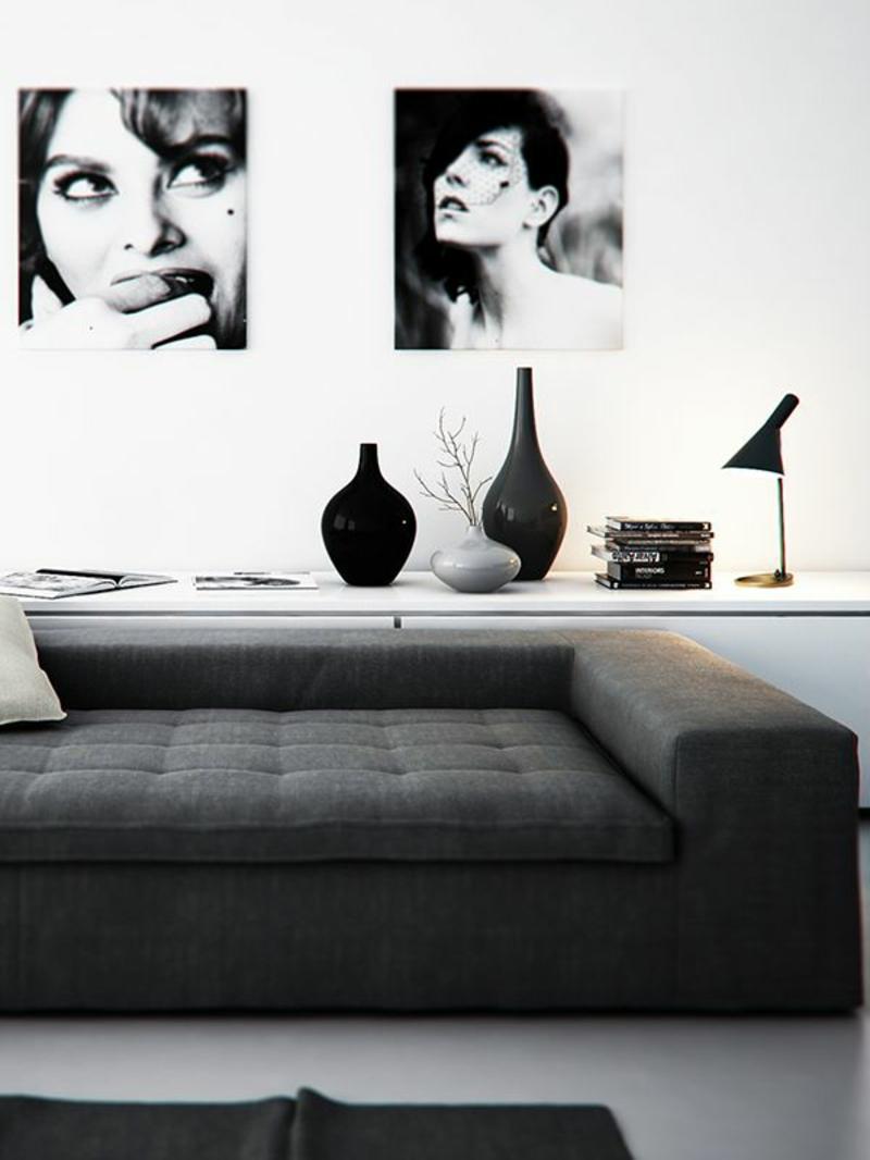 Wohnideen-und-Trends-2016-schwarz-weiß-minimalistisch