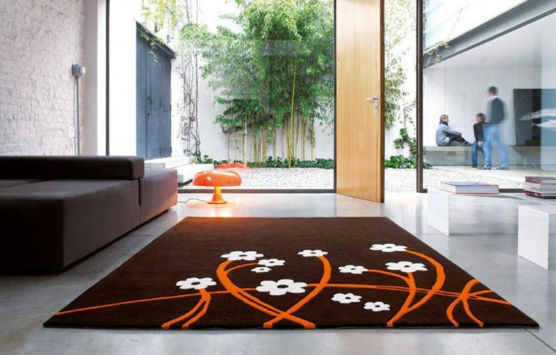 Wohnideen und Trends Wohnzimmer Teppich Blumenmuster