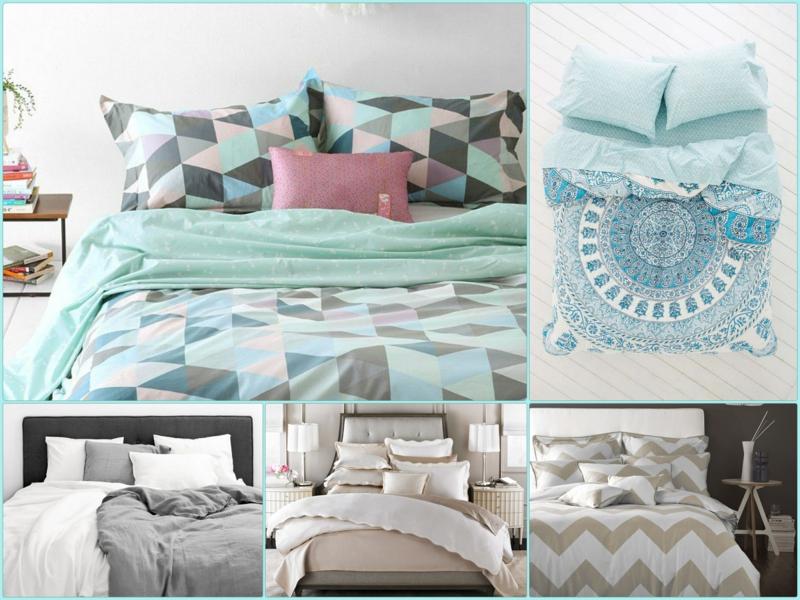 ausgefallene Bettwäsche Winterbettwäschen warm Muster Bettlaken