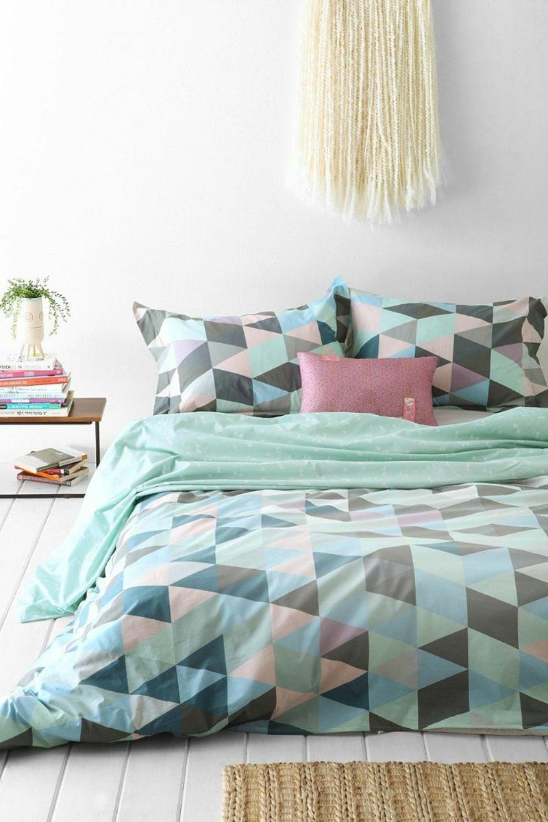 ausgefallene Bettwäsche geometrisches Muster Bettlaken