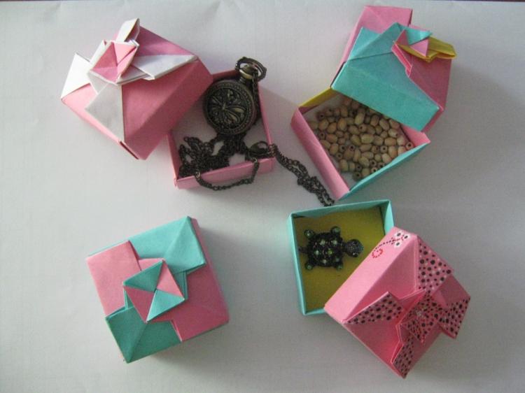 ausgefallene Geschenkideen DIY Geschenke Origami Geschenkverpackungen