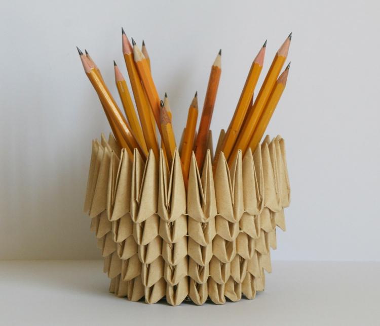 ausgefallene Geschenkideen Origami DIY Geschenke
