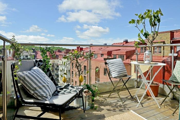balkon gestalten kleiner balkon pflanzen