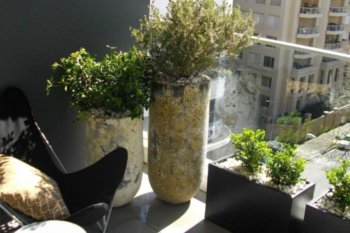 balkon gestalten kleiner garten city style