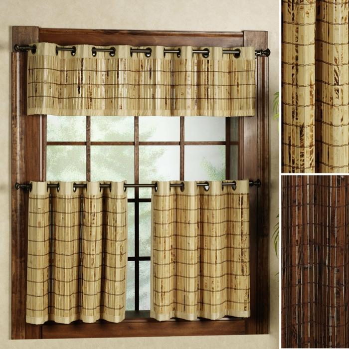 bambus deko bambusstangen fensterdekoration vorhänge rustikal
