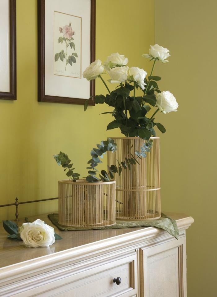 bambus deko bambusstangen ideen übertöpfe blumentöpfe vasen