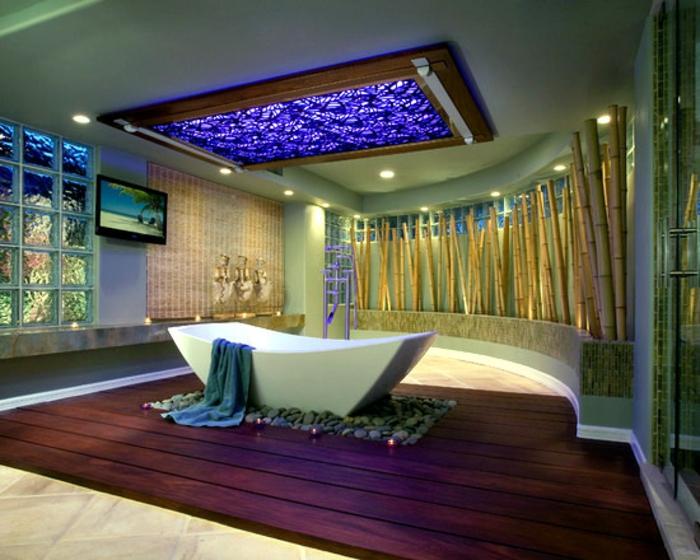 Bambus Deko Ideen Badezimmer Dekoration Exotisch.