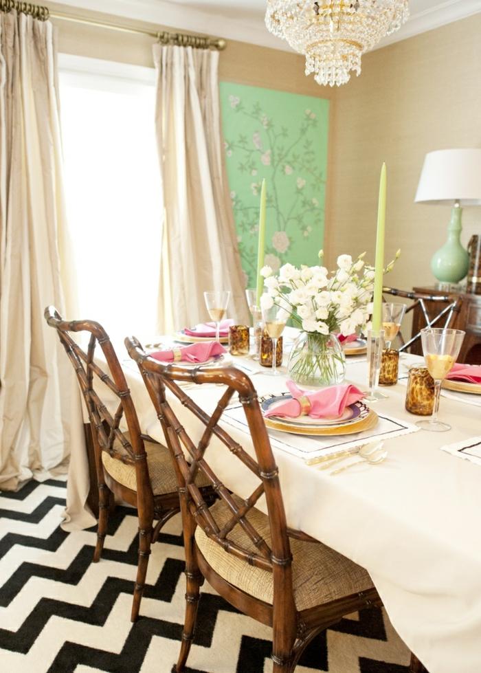 bambus deko bambusstangen ideen dekoration möbel stühle esszimmer