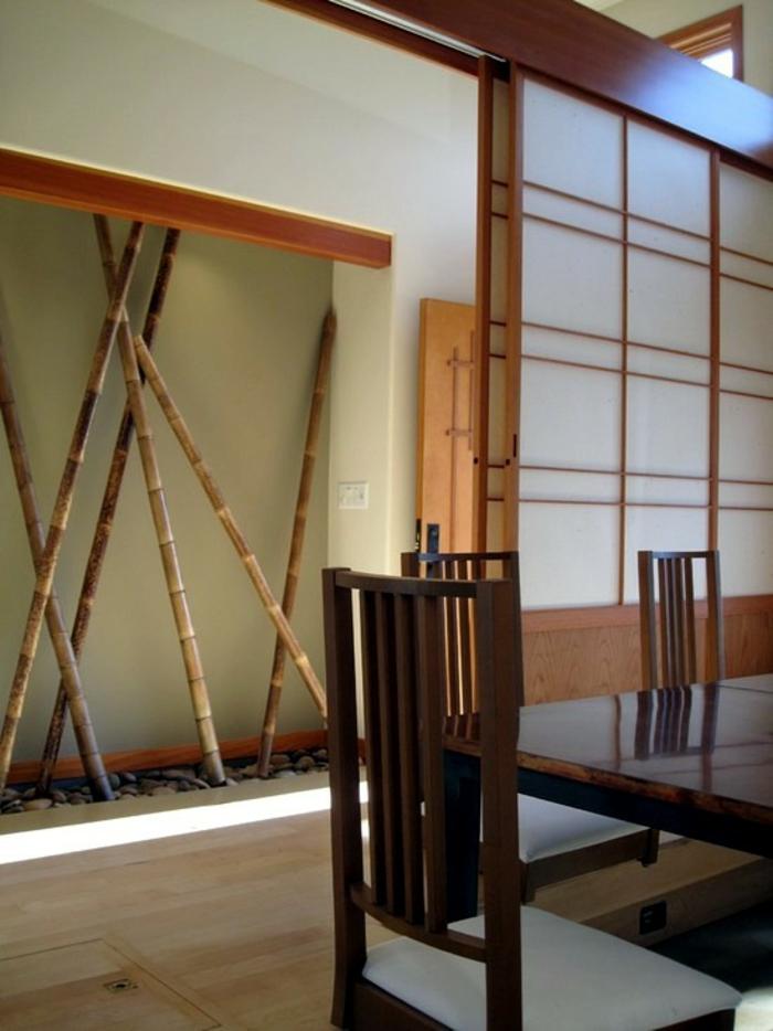 bambus deko bambusstangen ideen esszimmer dekoration