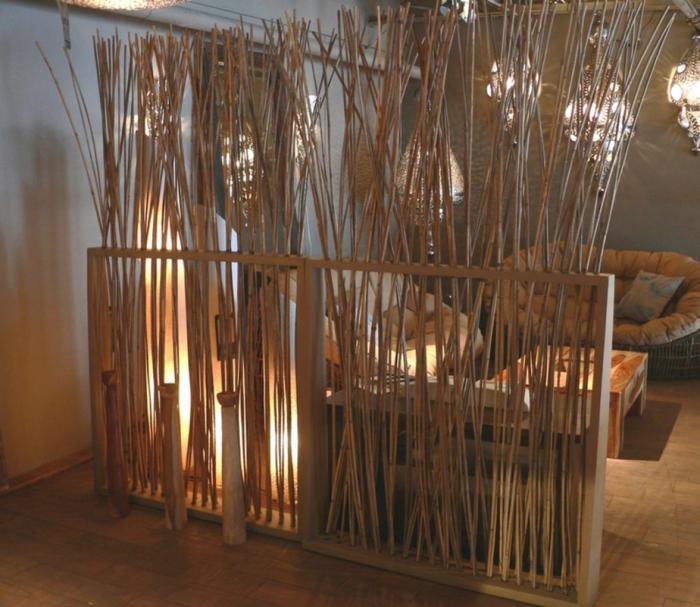 33 bambus deko ideen f r ein zuhause mit fern stlichem flair - Idee de separation de piece ...
