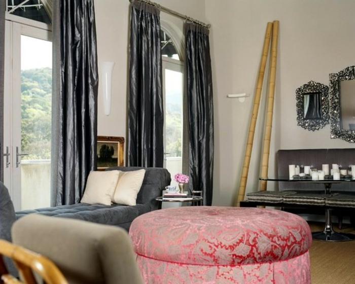 bambusstangen deko bambusstangen wohnzimmer dekoration