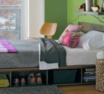 Bett mit Stauraum – Eine funktionelle Alternative, wie man Ordnung im Schlafzimmer hält