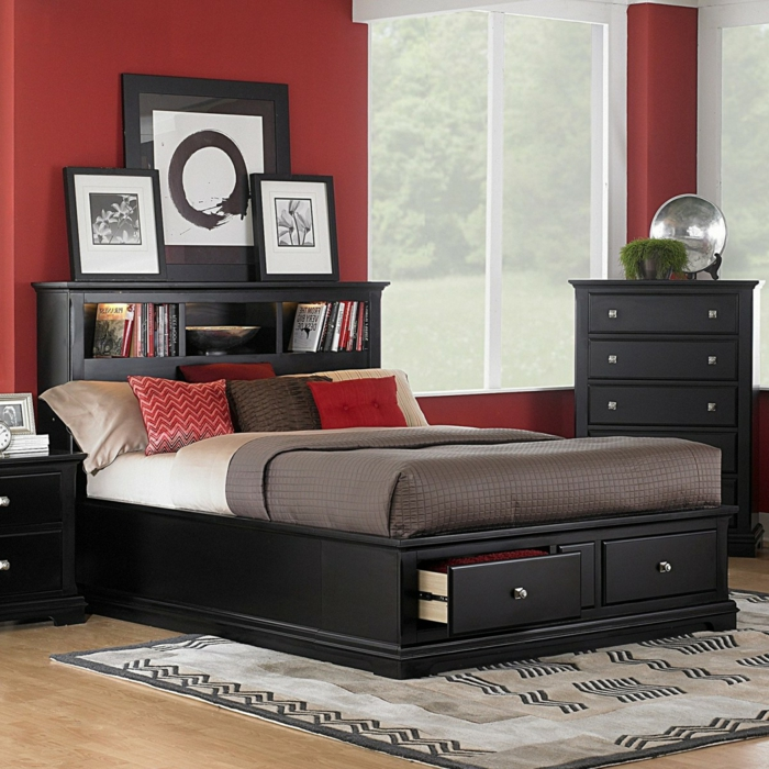 bett mit stauraum eine funktionelle alternative wie man ordnung im schlafzimmer h lt. Black Bedroom Furniture Sets. Home Design Ideas