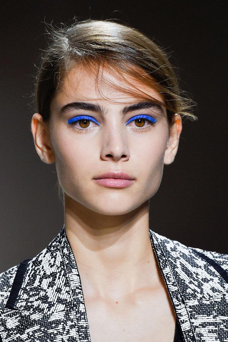 blaue Lidschatten Augen Make up 2016 trends boss Styling Tipps