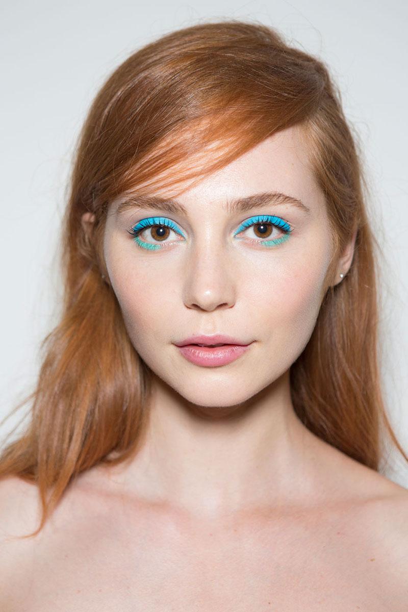 blaue Lidschatten Augen Make up 2016 trends lepore Styling Tipps
