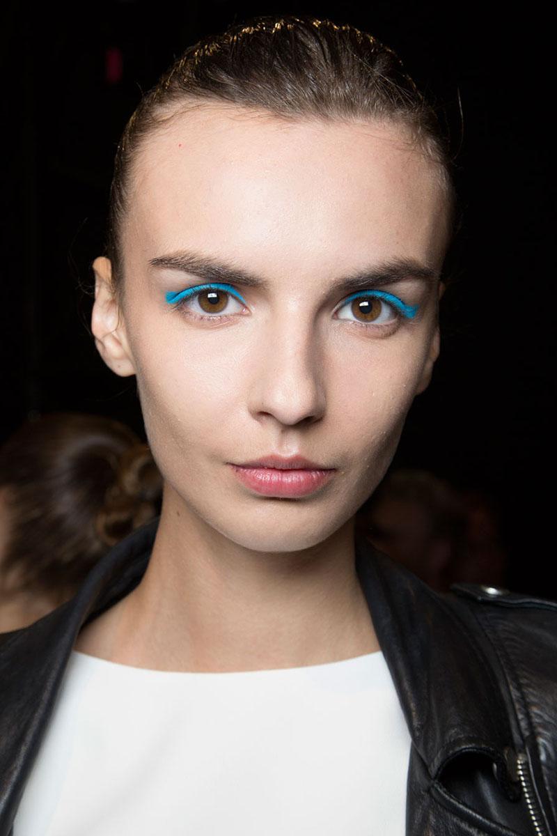 blaue Lidschatten Augen Make up 2016 trends lhuillier Styling Tipps