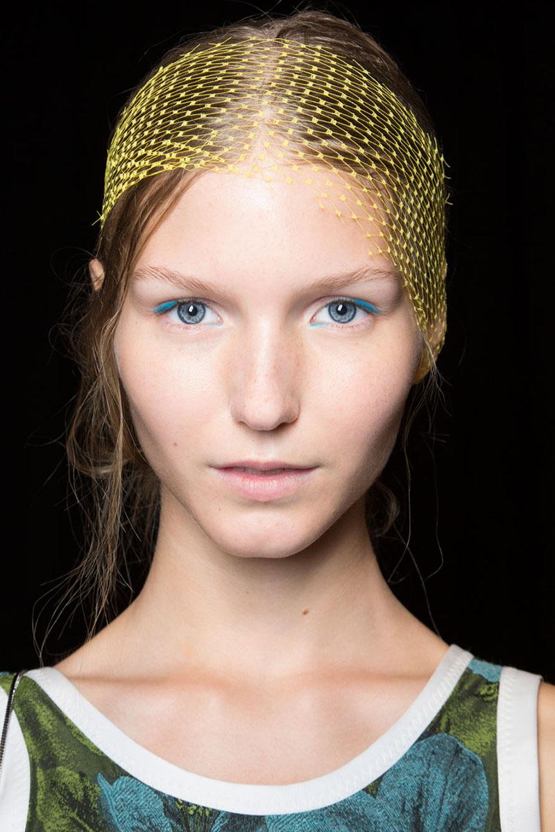 blaue Lidschatten Augen Make up phillip lim Styling Tipps
