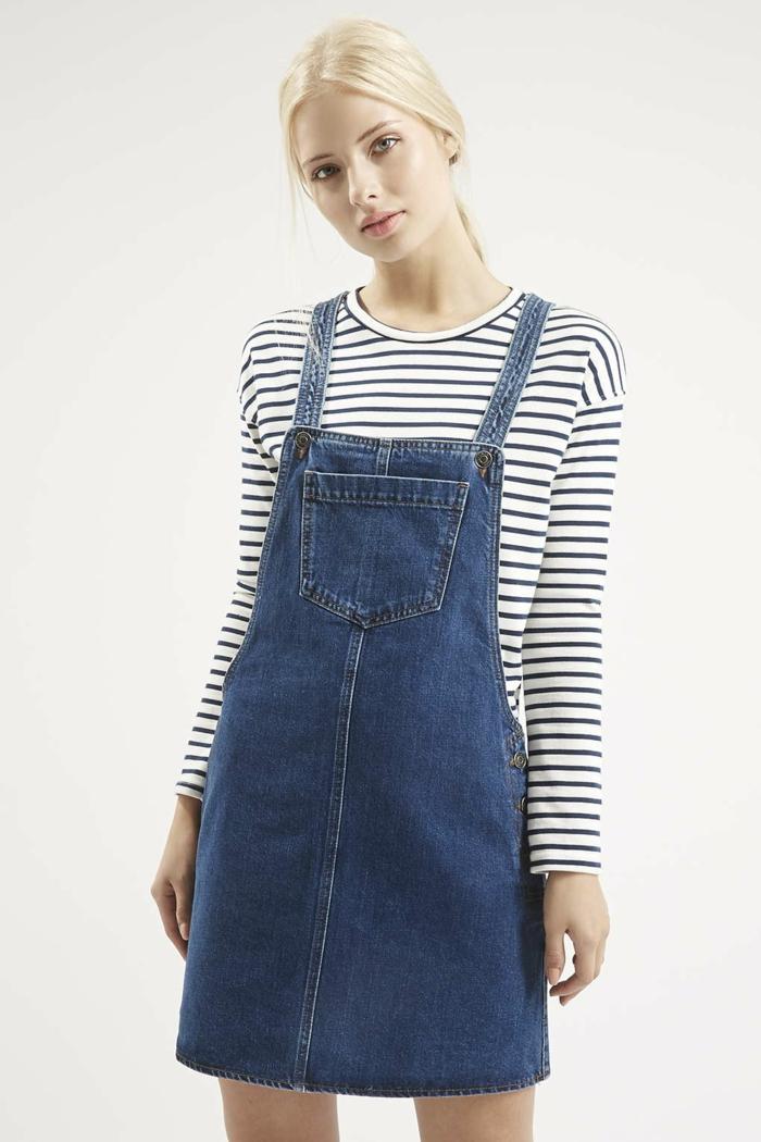 blaues kleid farbgestaltung blaue kleider dessin jeans trägerkleid