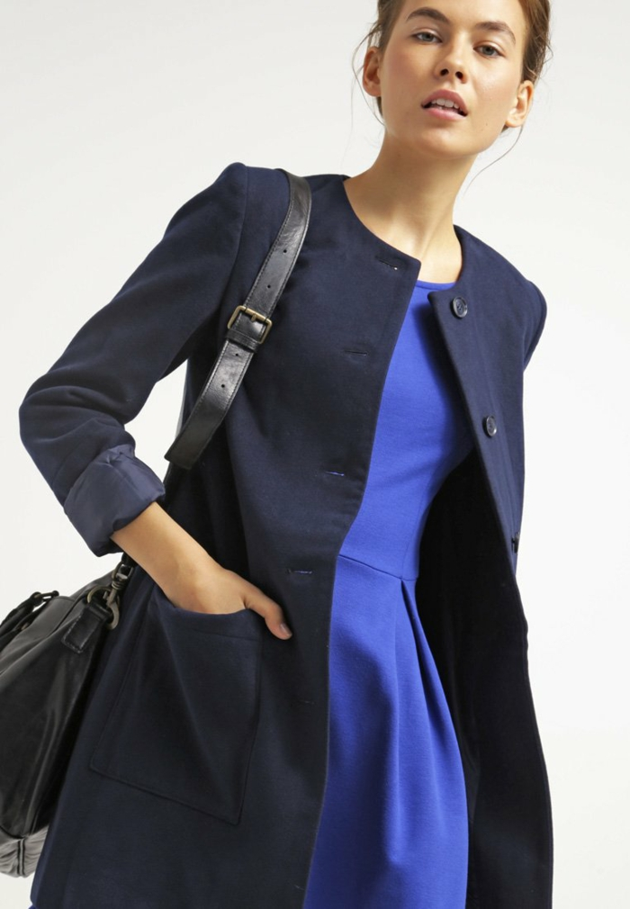 blaues kleid farbgestaltung blaue kleider dessin jersy mantel