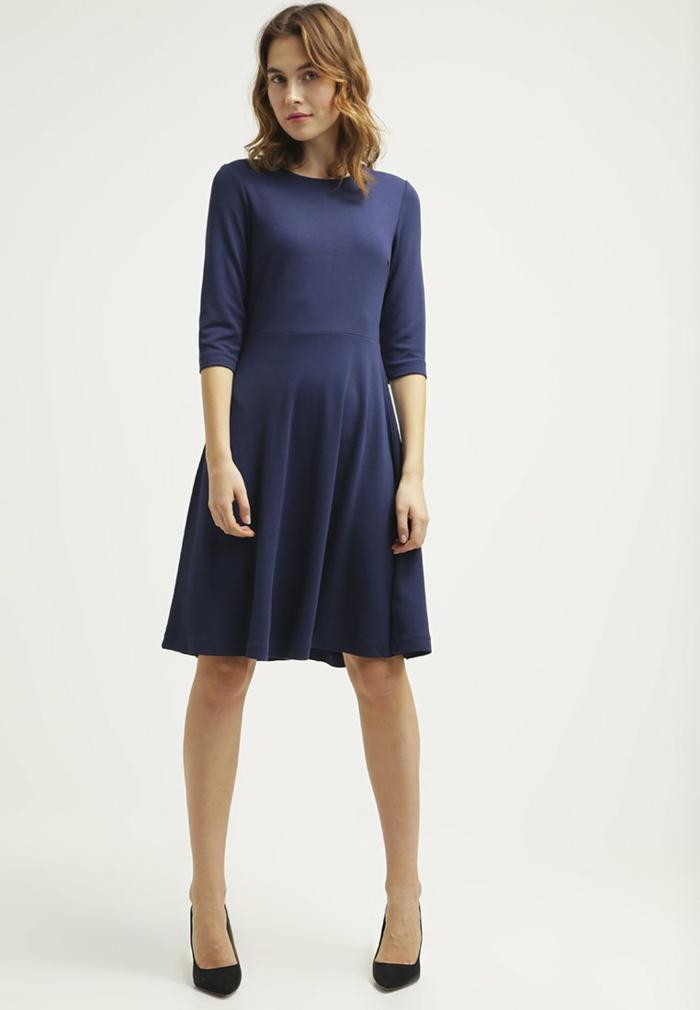 blaues kleid farbgestaltung  blaue kleider  dessin seide bequem mit lässig