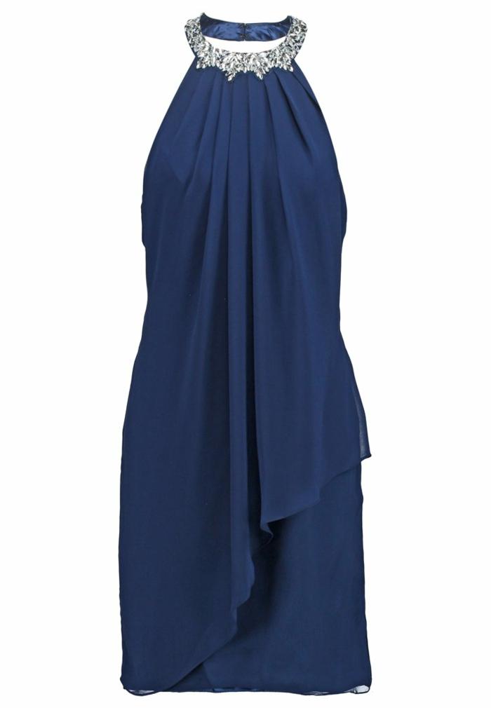 blaues kleid farbgestaltung blaue kleider  dessin seide  rockig abendkleid