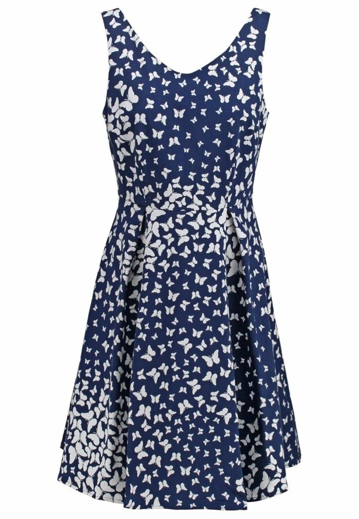 blaues akleid farbgestaltung  blaue kleider dessin seide schmetterling
